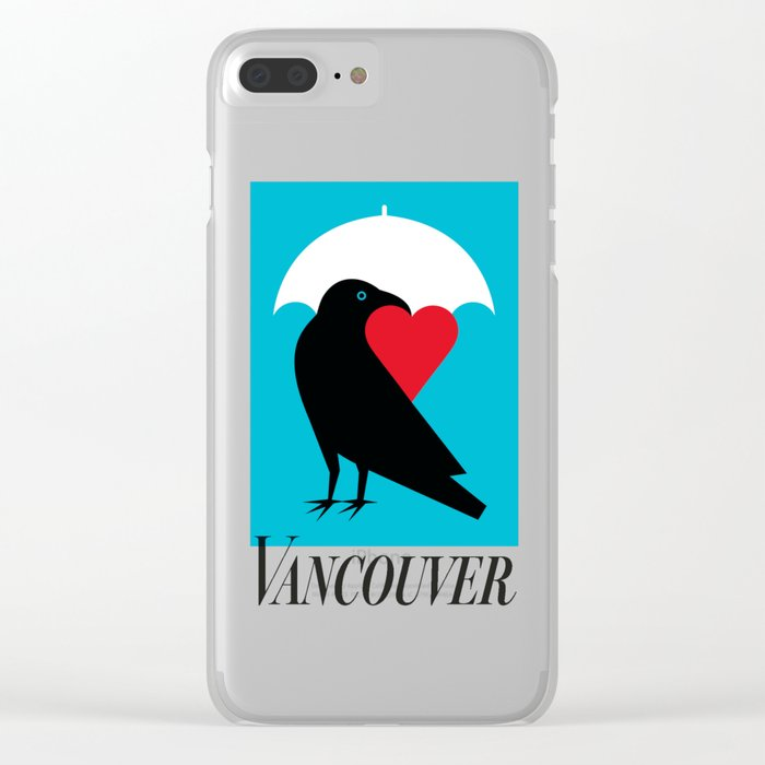 Vancouver's Canuck the Crow Clear iPhone Case