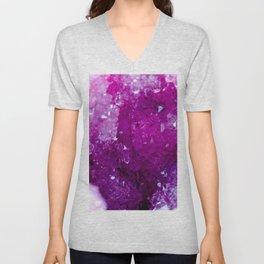 Purple Crystal Unisex V-Neck