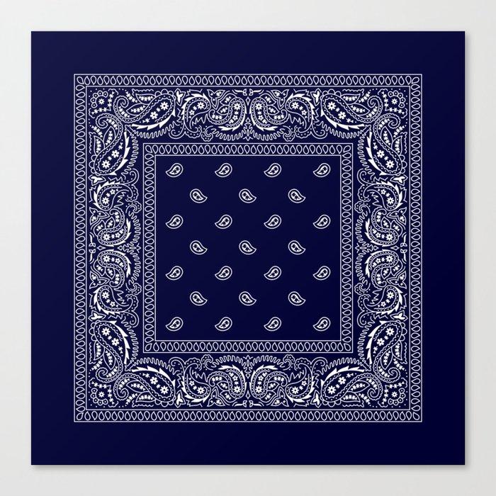Bandana - Navy Blue - Southwestern Leinwanddruck