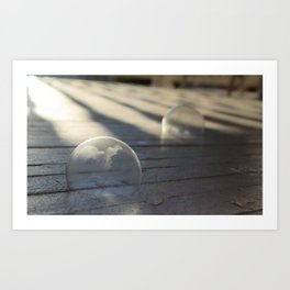 Frozen Double Bubbles * Magic Bubbles * rectangle image Art Print