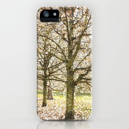Snow trees Greenwich Park London iPhone Case