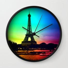 paris Colorful Wall Clock