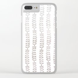 Silver leaf trellis Clear iPhone Case