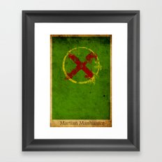 Martian Logo Framed Art Print