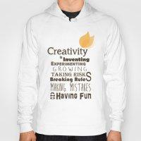 creativity Hoodies featuring Creativity by TeaTimeAdventure