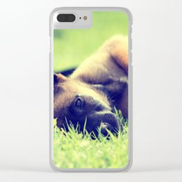 Bedtime for the small puppies Clear iPhone Case