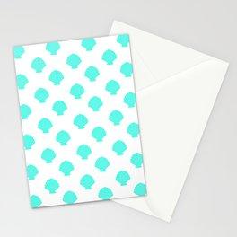 Seashells (Turquoise & White Pattern) Stationery Cards