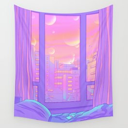 Shinjuku Summer View Wall Tapestry
