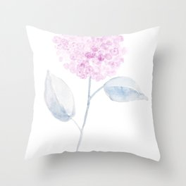 Pink flower, hydrangea Throw Pillow