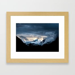 Mountain In Glacier National Park Framed Art Print