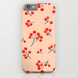 Fall Twigs Red Flowering Dogwood iPhone Case
