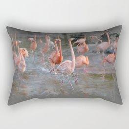 Flamingos in the pond. Rectangular Pillow