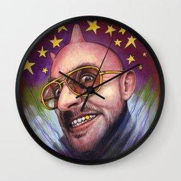 Portrait - The Devil Will Make You See Stars Wall Clock