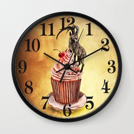 Unconquered Peak // goat cupcake Wall Clock