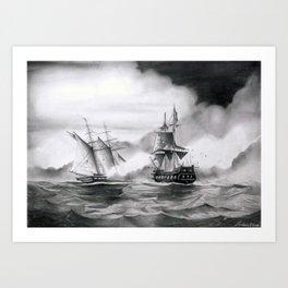 Pirates battle Art Print