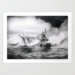 Pirates battle Art Print