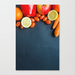 Fruit and Vegtables Canvas Print