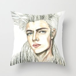 Double Exposure man portrait / Lucky Blue Smith Throw Pillow