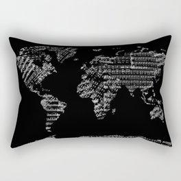 world map music vintage black 1 Rectangular Pillow