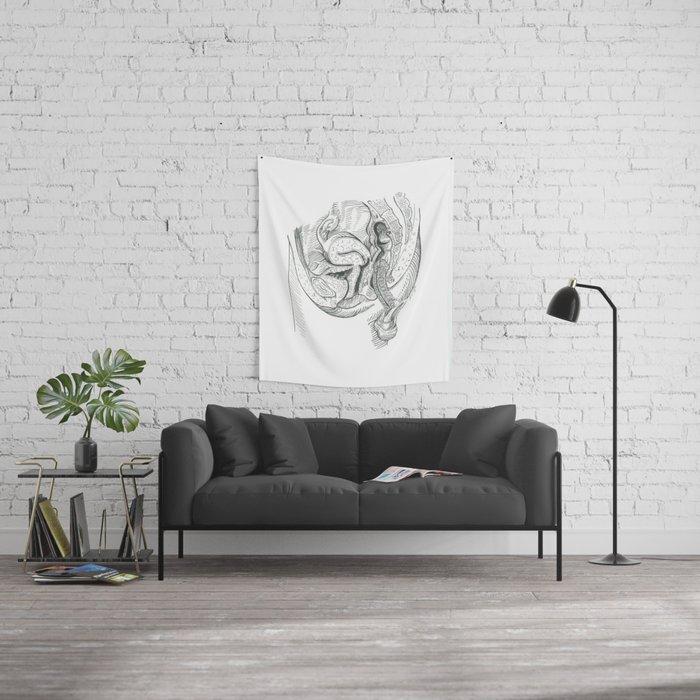 Anatomy Of Sex Wall Tapestry