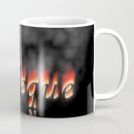 Barbeque Text On Fire Coffee Mug