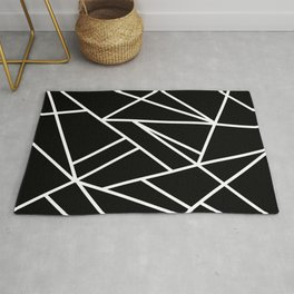Classic Black White Geo #1 #geometric #decor #art #society6 Rug