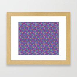 Colorful rings Framed Art Print