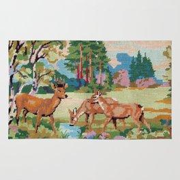 Cross stitch Deer Rug