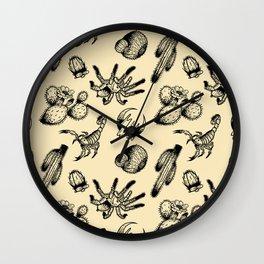 Nocturnal Desert Pattern Wall Clock