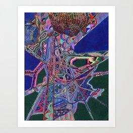 Googley Earth Art Print