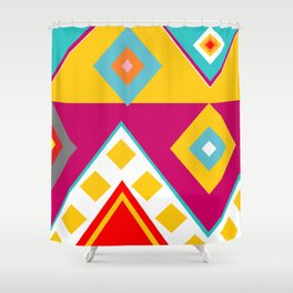 Mayan Print Shower Curtain