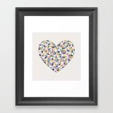 Faceted Heart Framed Art Print