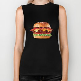 Geometric Bacon Cheeseburger Biker Tank