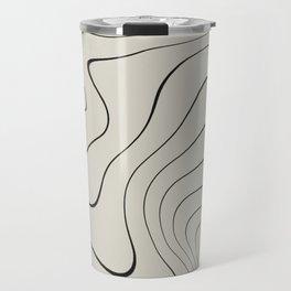 Line Distortion #2 Travel Mug