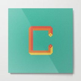 Letterform C Metal Print