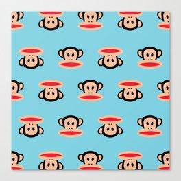 Julius Monkey Pattern by Paul Frank - Blue Canvas Print