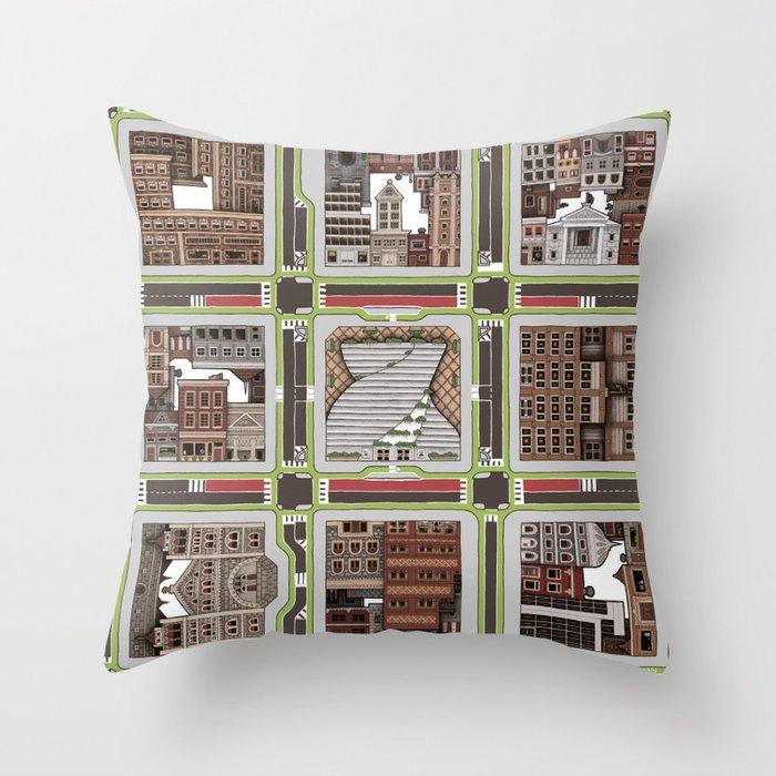 Urban Plaid Throw Pillow