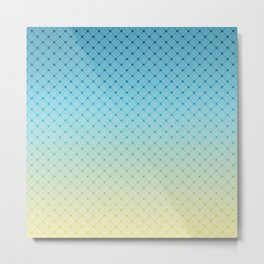 Blue yellow Ombre . Metal Print