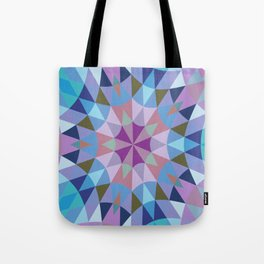 Lavender Retro Geometry Tote Bag