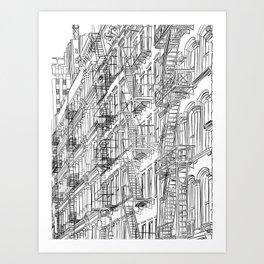 New York in B&W Art Print