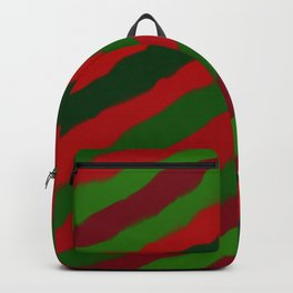 Red and Green Christmas Wrapping Paper Backpack