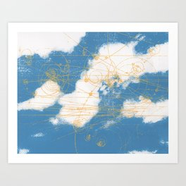 Cloud Chamber Art Print