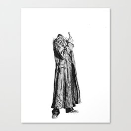 Madman with a Box: 10 Canvas Print