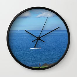Running with the Outrigger  Wall Clock