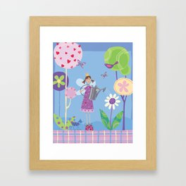 Fairy in the Garden Framed Art Print
