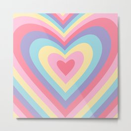 Colorful rainbow hearts Metal Print