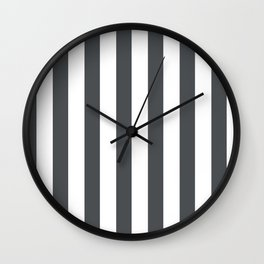 Grey and white stripes Wall Clock