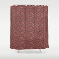 Find The Rabbit, Gray And Terracotta Abstract Pattern Shower Curtain