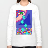 blankets Long Sleeve T-shirts featuring Abstract 34 by Linda Tomei