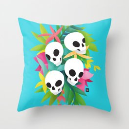Carnaval de muerte Throw Pillow